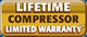 Lifetime compressor limited warranty offered by by Hugee - Washington, DC