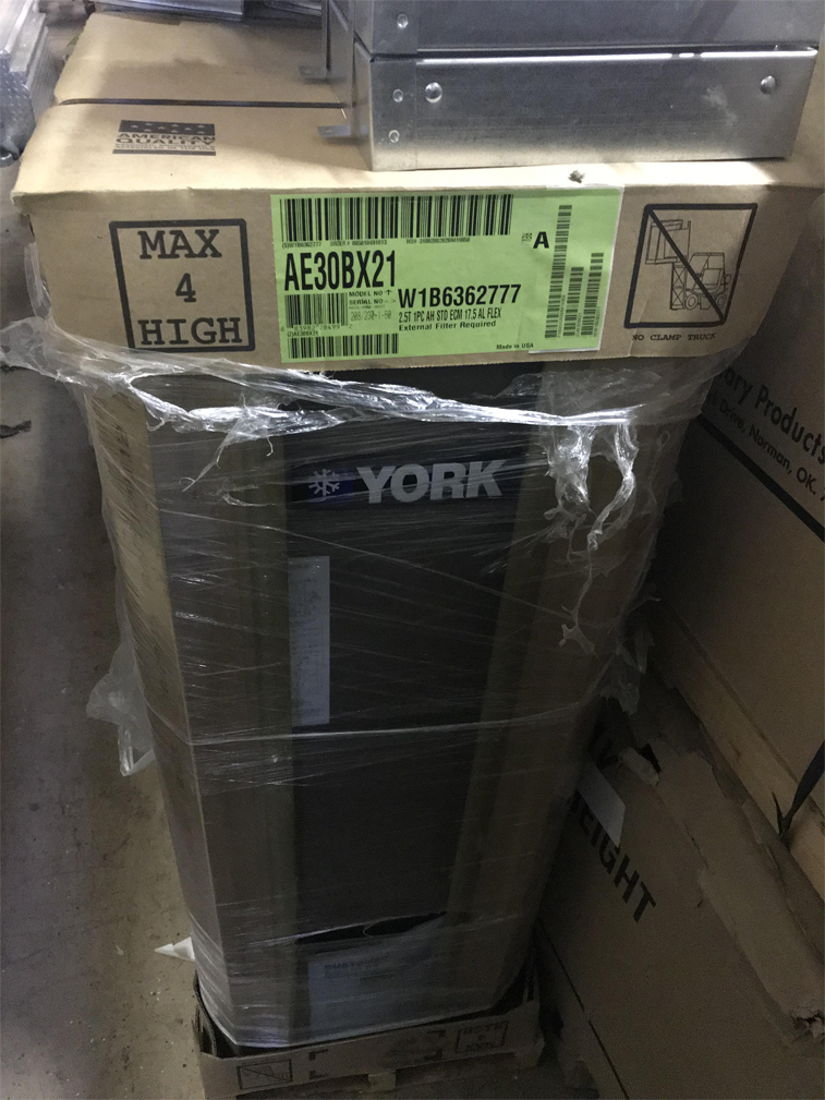 York (new) Air Handler 2.5 ton