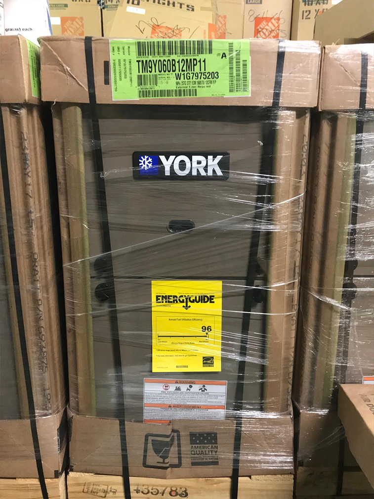 York (new) Gas Furnace 96% 2 stage 60k btu
