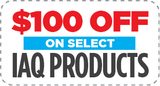 $100 OFF on selected IAQ Products