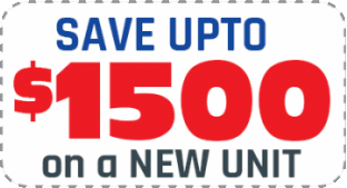 Save up to $1500 on a new unit