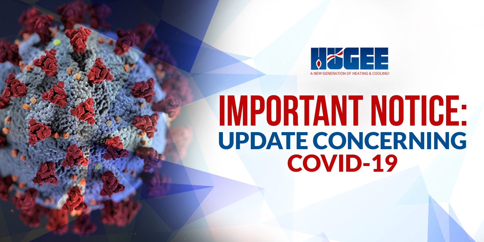 Important notice about COVID-19