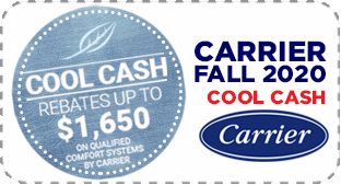Carrier Fall 2020 Cool Cash Coupon offered by by Hugee